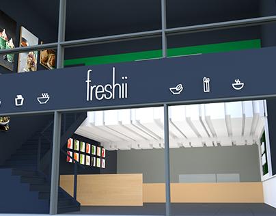 Freshii | Store layout design.