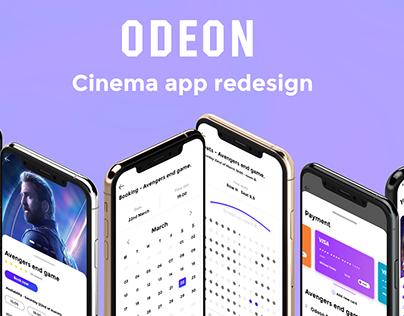 Odeon - cinema app redesign