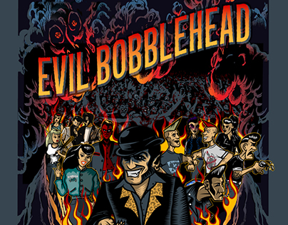 "Album ""Ticket To Hell"" 2017 by Evil Bobblehead"