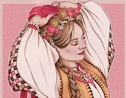 Slavic Beauty in Hucul clothing