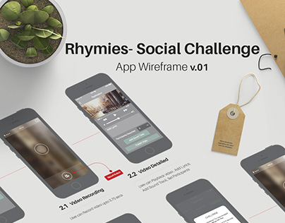 User Experience for Rhymies Social Challenge Mobile App