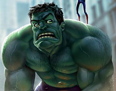 Hulk and Spider-Man