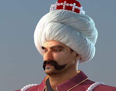 3d Ottoman Turkish Characters