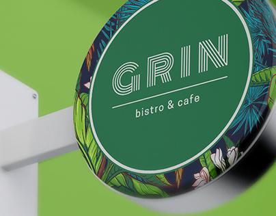 GRIN bistro & cafe visual identity