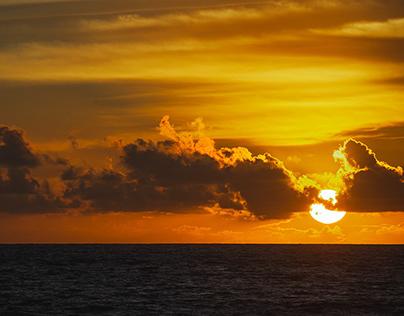 Magical sunset. Bali.