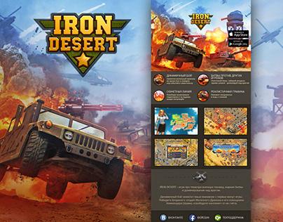 Iron Desert Game Landing Page