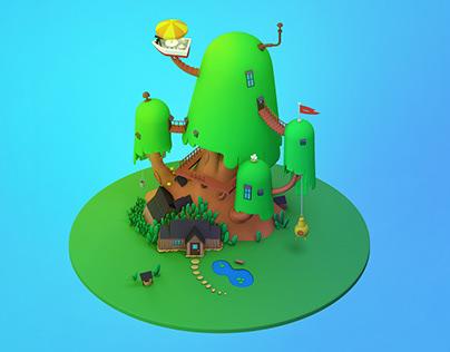 3D | Adventure Time