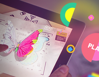 Interactive coloring book with augmented reality