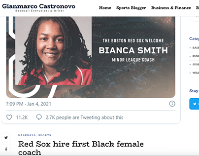 Red Sox hire first Black female coach