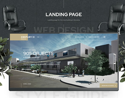 Landing page for the Real Estate