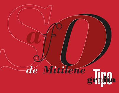 Safo de Mitilene - Postales Tipográficas