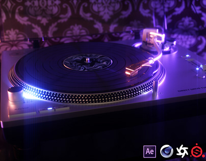 Technics SL-1200GR Turntable 3D Model and Renders