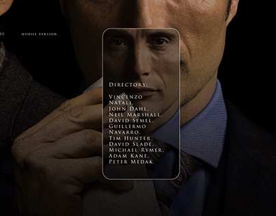 """Landing Page of the series """" Hannibal"""""""