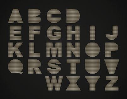 FLATAL Animated Typeface