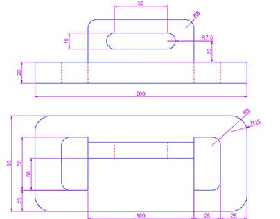 Projets 1er année 2D AutoCAD pièces mécaniques