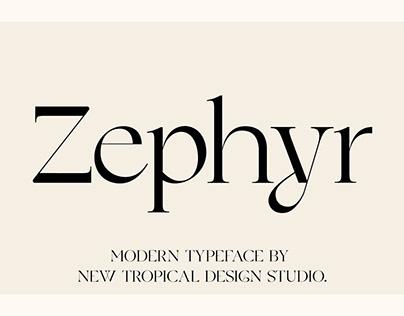 Zephyr - Modern Serif Font