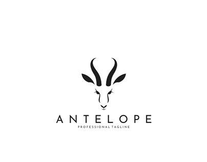 Antelope Springbok. Logo Template