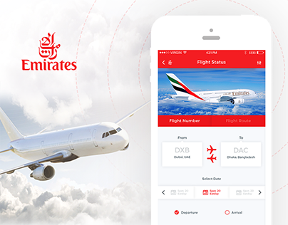 Emirates Air Redesign Concept - Apps & WebApps