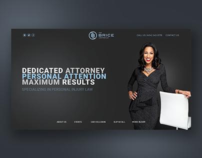Website design for attorney company
