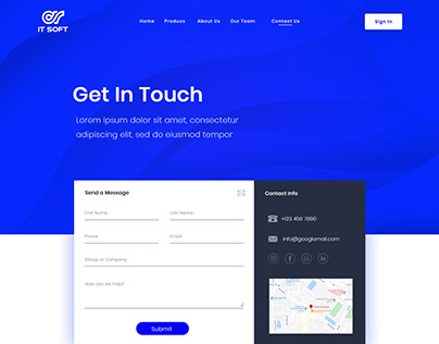 IT Soft (Contact Us Page Design)