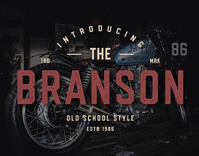Branson. Sans Serif Font