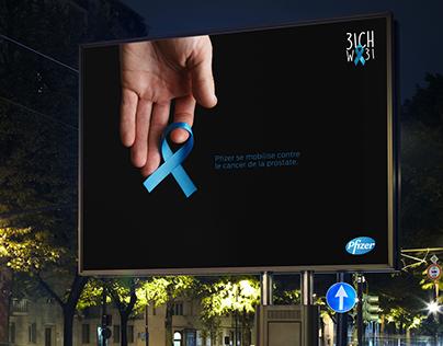 Pfizer / Campagne contre / cancer du prostate et sein