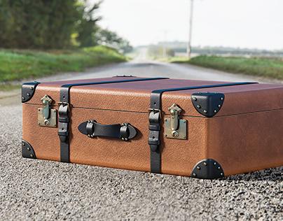Realistic 3D model of Retro Suitcase