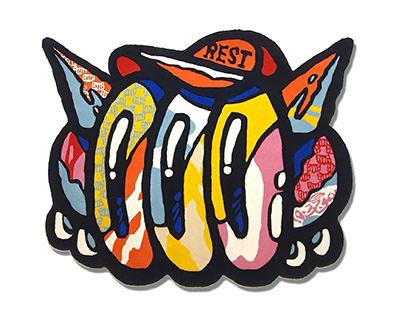 LOOOK Multicolor Rug
