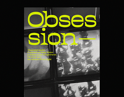 'OBSESSION' Poster Collection