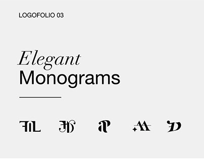 Elegant monograms - Logo collection