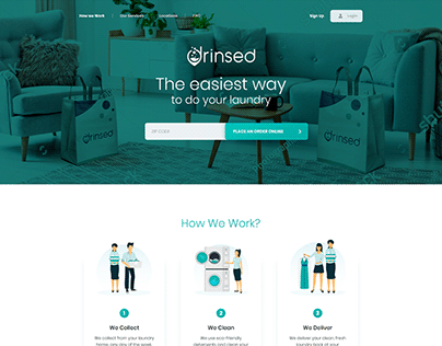 Website for a laundry service business