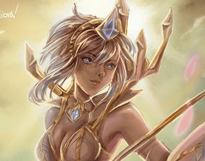 Lux // League of Legends artwork// Heh CUP