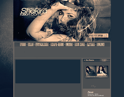 Shakirafusion.com (2007) and others old designs