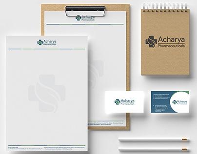 Acharya Pharmaceuticals - Brand identity design