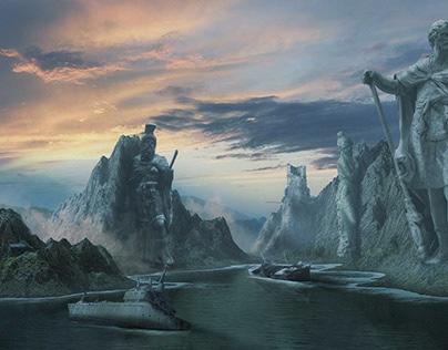 Bay of Destruction: Mix of Blender & Photoshop