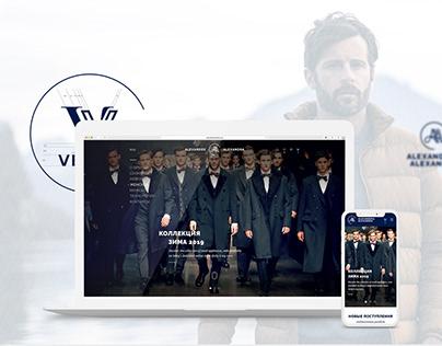 Outerwear online store design