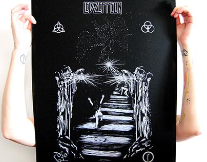 Serigraphie affiche Led Zeppelin
