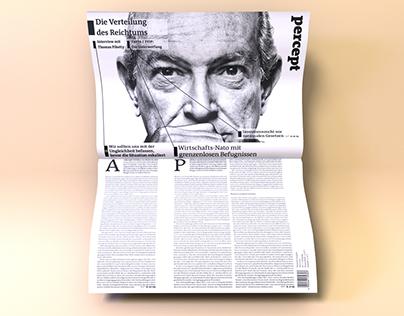 Percept –Editorial Design for an ambitious newspaper