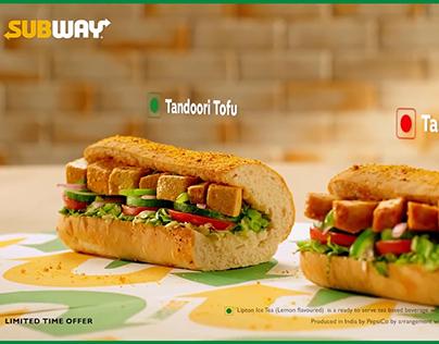 Subway Tofu & Chicken sandwiches by Food stylist Payal