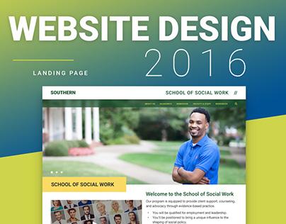 Departmental Landing Page