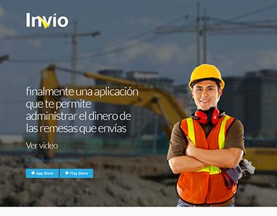 Invio App Landing Page