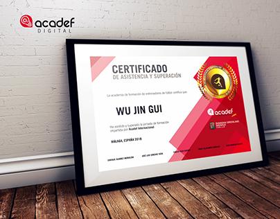 Acadef Diploma y certificado