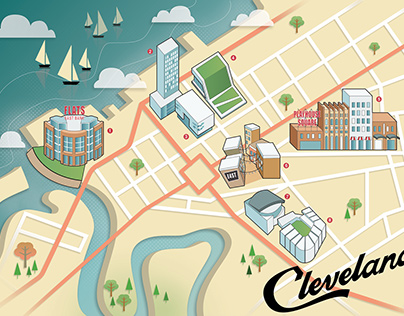 Map Of Cleveland for Convene Magazine