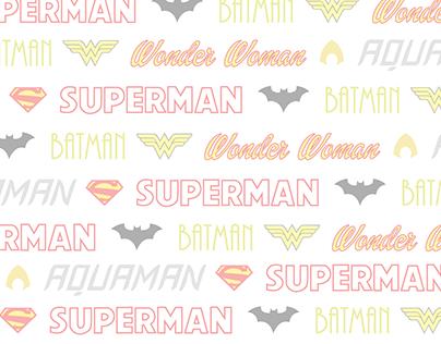 Superhero Typeface Comics