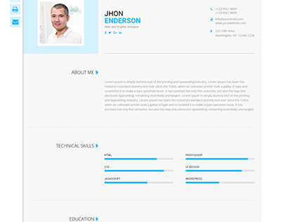 Modern-CV - Personal Resume Template