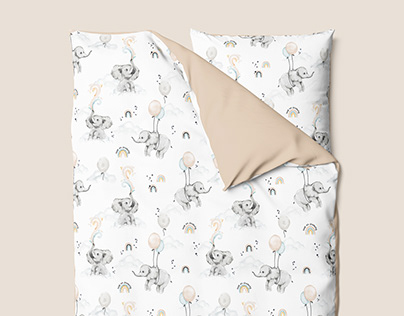 Keep on dreaming - watercolor textile pattern design