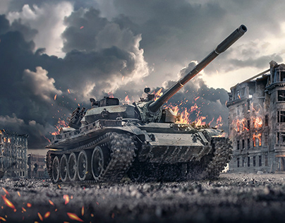 Battle Tank (Matte Painting)