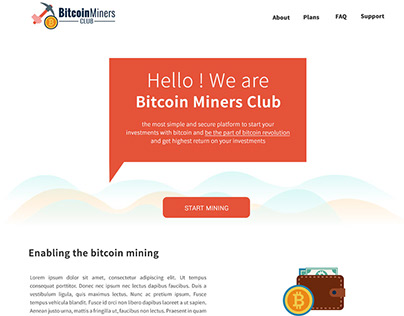 Miners Club – HYIP Template