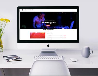 DJ portfolio website