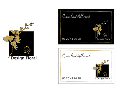 Création de carte de visite pour un designer floral